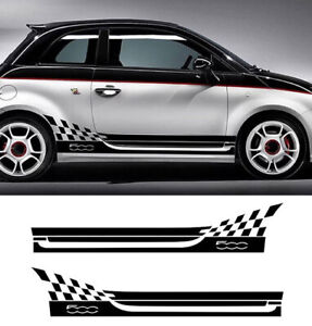 X2 Side Abarth Car Styling Body Decoration Decal For Fiat 500 Bravo Palio