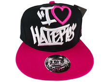 Snapback I Love Haters Baseball Cap Black Red Hiphop state property Obey YMCMB