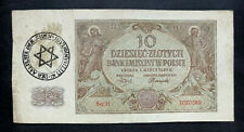 GENUINE NOTE. 1940 - Occupation Currency Note  10 zloty . POLAND.