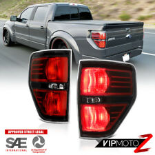 "2009-2014 Ford F150 Pickup ""RAPTOR STYLE"" Black Tail Lights Signal Replacement"