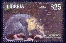 Liberia 2001 Mnh, Solenodon, Rodents, South American fauna (J8n)