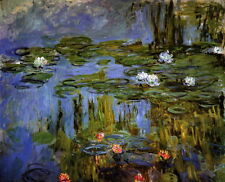 """Canvas Print Water Lilies Oil painting Picture Printed on canvas 16""""X20"""" P362"""