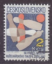 CZECHOSLOVAKIA 1987 USED SC#2641 Bowling Union, 50th Anniv.