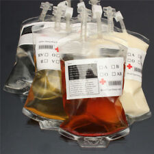 5pcs Vampire Blood Bag Energy Drink Bag Halloween Decoration Prop Party Supplies