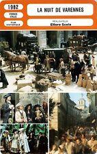 Fiche Cinéma. Movie Card. La nuit de Varennes (France/Italie) 1982 Ettore Scola