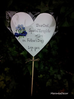 Dad/Mum Birthday  Fathers day - Memorial grave ornament-personalised, waterproof
