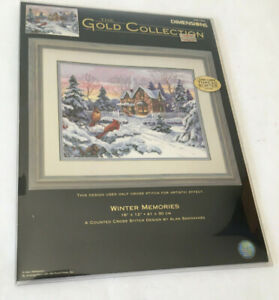 Dimensions Gold Collection Counted Cross Stitch Kit Winter Memories #35155