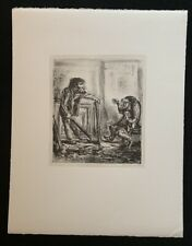A. Paul Weber, Verschiedener Meinung, Lithographie, 1978, handsigniert