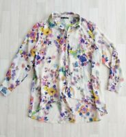 Size 16 Floral Summer Blouse Shirt Top