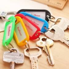 30 Stück Schlüsselanhänger Schlüsselschilder zum Beschriften Bunt Werkzeu-k E8Z7