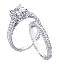 2ct Vintage Style Simulated Diamond Engagement Ring Set