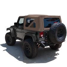 Jeep Wrangler JK Soft Top, 2007-09, Tinted Windows, Saddle Sailcloth