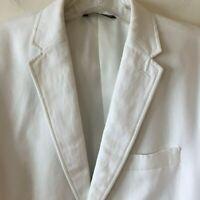 Perry Ellis White Blazer Classic Fit Linen Cotton Men's 40 REG 40R NWT
