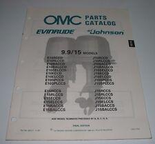 Parts Catalog OMC Ersatzteilkatalog Evinrude Johnson 9,9 / 9,9 15 Models 05/1988