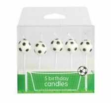 Football Footy Candles Birthday Cake Decoration Pack of 5 Pick Topper Set Decor