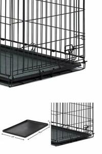 DOG CRATE REPLACEMENT PAN 24 Inch Plastic Leak Proof Pet Dogs Kennel Floor Tray