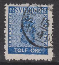 More details for sweden - 1858/72, 12 ore deep blue stamp - g/u - sg 8