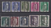 S4195/ AUSTRIA – SOVIET ZONE – MI # 686 / 694 MINT SIGNED