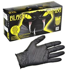 BLK-130 Black Mamba Extra Large Nitrile Glove (XL) , 100 Per Box