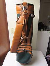 Vintage Miller Pro Model Golf Cart Bag W Hood - Green & Tan Leather?
