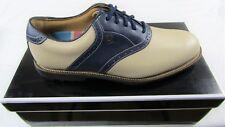 New in Box Footjoy Club Professionals Men's Golf Shoes, Bone & Navy, 57004