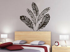 Feathers Wall Decal Decorative Feather Set Tribal Boho Bohemian Bedroom NV62