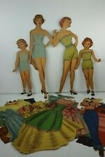 Big 'n Little Sister Vintage Paper Dolls Matching Clothing Pieces 1951