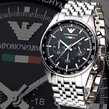 BRAND NEW EMPORIO ARMANI BLACK DIAL CHRONOGRAPH MEN WATCH AR5983