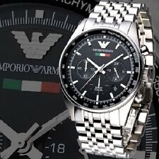 BRAND NEU EMPORIO ARMANI Schwarz Zifferblatt Chronograph Herren Uhr AR5983