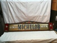 Michelob Cold  Beer 3D Plastic Sign-1896 Anheuser Busch  4 Ft Long Back Bar Sign