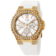 Guess U16529L1 40 MM Case With White MOP Dial White Rubber Band Women's Watch