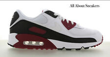 """Nike Air Max 90 """"White-White-Red"""" Men's Trainers Limited Stock All Sizes"""