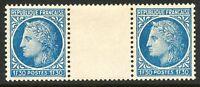 FRANKREICH 1947 Ceres (Type Mazelin) 1.30Fr. ABART postfrisches Zwischenstegpaar