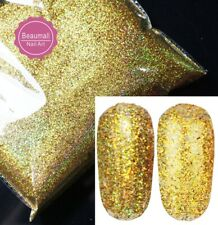 NAIL ART POLISH GLITTER HOLOGRAPHIC GOLD COLOR POWDER 3 G A BAG