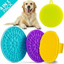 Dog Shower Lick Pad Treater 4 pcs Puppy Feeding Massage Bathing Device Sponges
