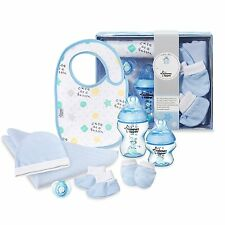 Tommee Tippee Closer To Nature Baby Boy Bottle Pacifier Bib Hat Gift Set 0-6M