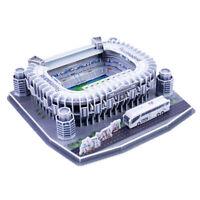 Self Assembled Puzzle Kits Santiago Bernabé Football Field Model DIY Craft