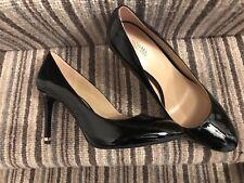 Bomba De Patente Negro Michael Kors Tribunal Zapatos Stiletto// US9m/UK7