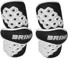 Brine Triumph II Lacrosse Arm Pads Black Medium LAPTRI2-BLAM Sports Protection