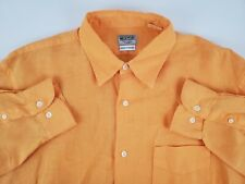 Hartford Mens Large 100% French Linen Long Sleeve Button Up Shirt