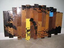 Hand Made WINNIE THE POOH Disney Wood Recycled Nursery Room Kid Art Decor USED