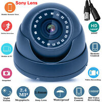 DOME CCTV CAMERA 2.4MP 4IN1 TVI AHD CVI CVBS FULL HD 1080P OUTDOOR NIGHT VISION
