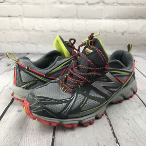 New Balance 610V3 Gray Red Yellow Trail Running Athletic Shoes Womens Size 9