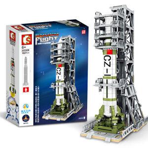 Sembo SCC Space Flight 203306 CZ1 Rocket & Tower interlocking Building Block Set