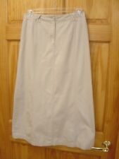 WHITE STAG 100% Cotton Beige Full-Length Modest Skirt - Women's Size 10