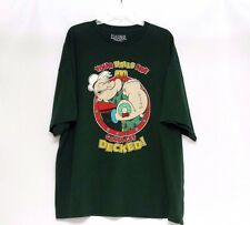 Popeye Men's Short Sleeve Green Christmas Holiday T-Shirt Size 3XL