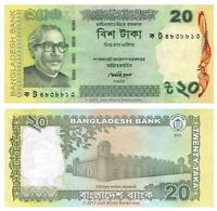 Bangladesh 20 Taka 2012 P-55A Second Issue Banknotes UNC