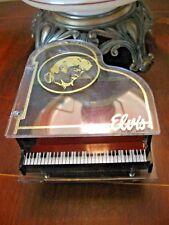 VINTAGE  Elvis Presley Piano Jewelry Music Box Plays Love me Tender- Hong Kong