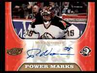 2005-06 Upper Deck Power Play Autograph Mika Noronen Auto Buffalo Sabres