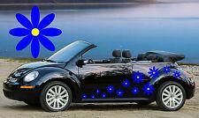 32 Blu & Giallo MARGHERITE Auto Decalcomanie, Adesivi, Auto grafica, Daisy ADESIVI